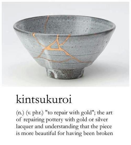 kitsukutoroi to be repaired by gold, better for having been broken