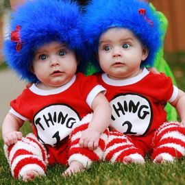 Thing 1 and Thing 2 from Dr Seuss