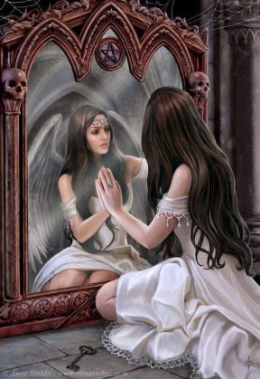 angel in the mirror